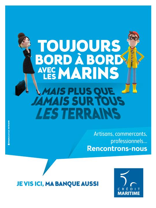 Visuel campagne Crédit Maritime sur tous les terrains