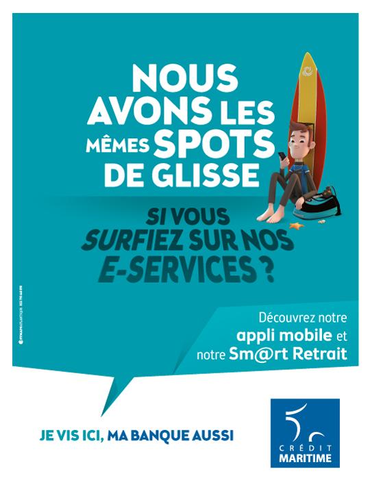 Visuel campagne Crédit Maritime services digitaux