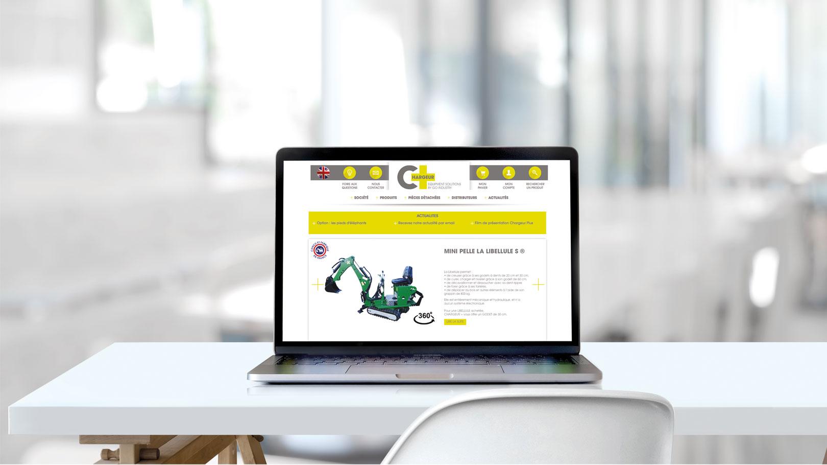 Mise en situation site internet Chargeur Plus du groupe Go Industry