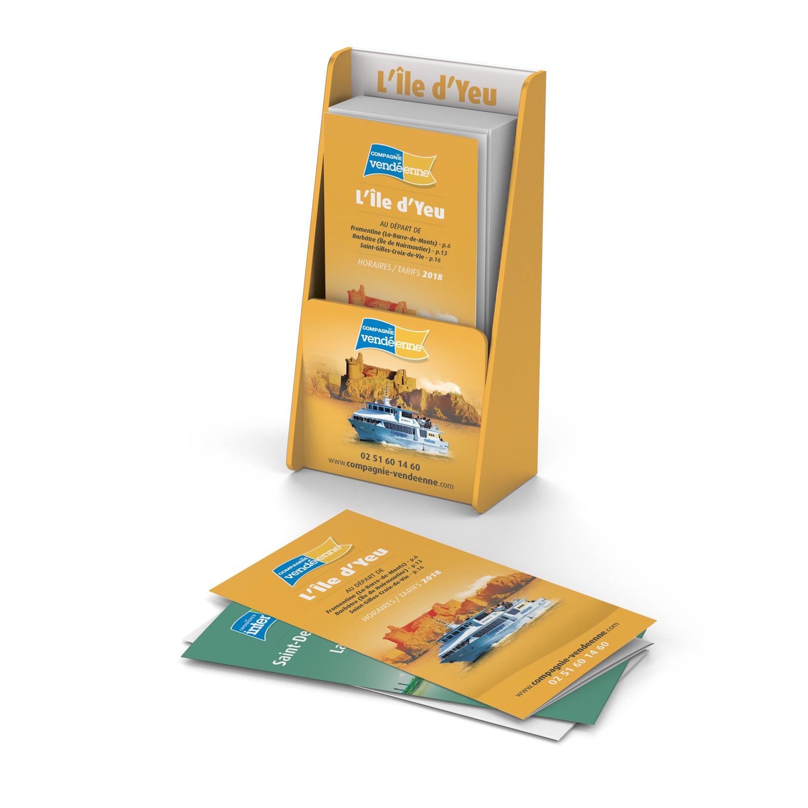 Déclinaison visuels supports brochures Croisières Inter-îles