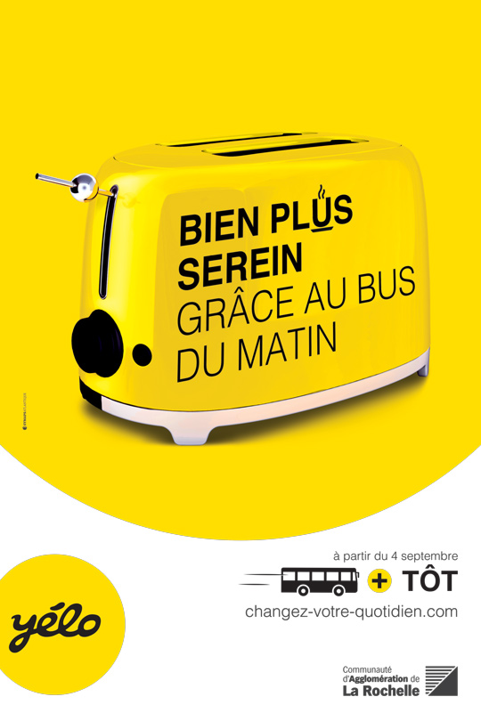 Visuel campagne RTCR bus matin Yélo changez-votre-quotidien.com